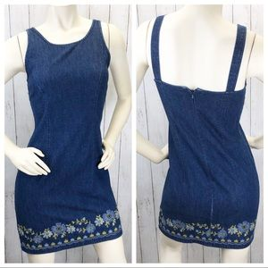 VTG 90's Loft Denim Mini Dress Sz 4P ::xx24